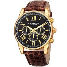 Akribos XXIV Men's Classsic  AK864YGBR Wrist Watch