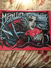 METALLICA Denver Event Lithograph Poster Knob Glass 2017 Hetfield Ulrich Worldw