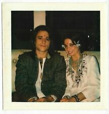 Square 70s Vintage Polaroid PHOTO Young Artsy Couple at Party