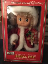 Telco 1994 The Original Motionettes Of Christmas Small Fry Animated Figure 44206