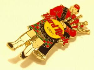 Edinburgh Male Bagpiper tac Back red on yellow logo HARD ROCK CAFE PIN B19-252
