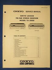 ONKYO TX-2000 RECEIVER SERVICE MANUAL ORIGINAL FACTORY ISSUE THE REAL THING