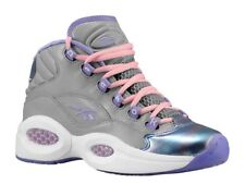 """Hall Of Fame! Reebok """"Question"""" Mid Girls shoes.. GIRLS 8 grey color new in box!"""