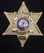 Obsolete Police badge – uncommon Illinois St. Clair County star