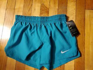 NWT Nike Teal Blue Dri-Fit Womens Size XSmall Running Shorts