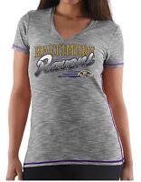 NFL Baltimore Ravens Women's Team Fashion Graphic II V-Neck Short Sleeve Shirt