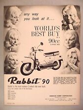 Rabbit Thrift King Motorcycle PRINT AD - 1964 ~~ motor scooter