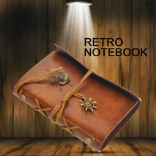US Classic Retro Leather Journal Travel Notepad Notebook Blank Diary Brown