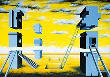 Radek Adam Sliwecki 1975 Łosice/Polen: Surrealistische Stadt 2001 Öl 62 x 90 cm
