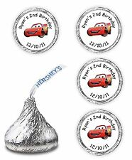 108  PERSONALIZE DISNEY CARS BIRTHDAY FAVORS KISSES LABELS DECALS  McQUEEN
