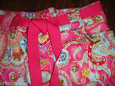 NWOT White Stag * HOT PINK Paisley CAPRIS * STRETCH Cropped Pants * sz 6 / 7 *