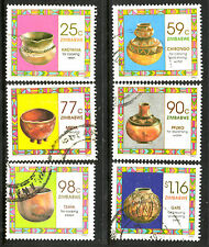 ZIMBABWE 1993 HOUSEHOLD POTTERY Sc# 686/91 COMPLETE POSTALLY USED SET 1713