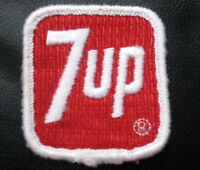 "7 UP EMBROIDERED SEW ON ONLY PATCH BEVERAGES SODA ADVERTISING 2"" x 2 1/4"""