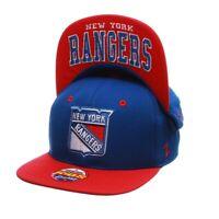 New York Rangers Seminoles Youth OSFA Zephyr Snapback Flatbrim Blue Cap Hat