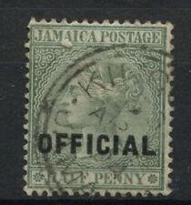 Jamaica 1890-1 Sg #o 3, 1/2d Verde Qv Oficial utilizado #a 61856