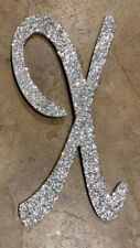 "NEW Pottery Barn Kids Glitter Wood Letter ""X"" SILVER"