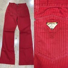 Vtg 70s Pentimento High Waist Flare Bell Bottom 28 X 37 Jeans 13 Red Pants Hippy