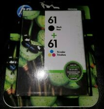 NEW HP 61 Black & Tri-color Original Ink Cartridges  Multi-pack EXP July 2020