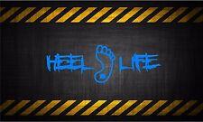 Heel Life 7'' vinyl car sticker decal UNC north carolina Tarheels