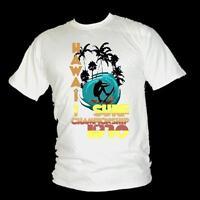 Hawaiian SURF championship RETRO 1970 vintage style mens T-shirt