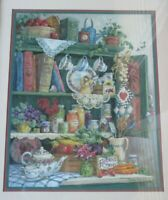 Large Home Interior/Homco Country Cupboard/Farmers Market Picture