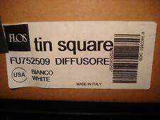 Flos Tin Square Diffusore (Diffusor) Model #Fu752509 White Bianco Made In Italy