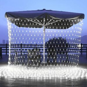 LED Fairy String Net Mesh Curtain Window Lights Outdoor Christmas Lights Home UK