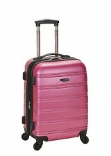 "Melbourne 20"" Expandable Carry On Hard Luggage ABS - Pink"