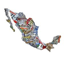 Plasma Cut Steel Mexico License Plate Map Sign Mexico Metal Sign Home Decor