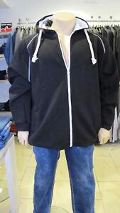 Stylische Herren Kapuzenjacke Sweatjacke schwarz in Top Qualität Zip-Hoodie