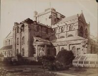 Romsey Abbey, Hampshire, vintage photographic print  Greenhouse,  Clock   JX2064