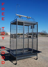 """Extra Large Parrot Cage For Macaw Cockatoo African Grey Amazon 32""""X23""""X66""""H -258"""