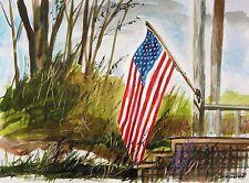 ORIGINAL FLAG Landscape  Painting  Sale JMW art John Williams Impressionism