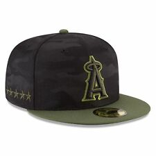 Los Angeles Angels Era 2018 Memorial Day 59fifty on Field Fitted Hat 7 3 8 eaa65c9c5d9