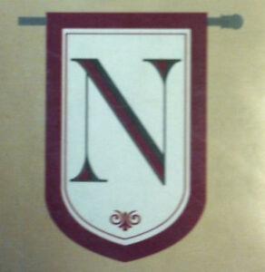 Evergreen Monogram Flag - N