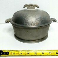 "Vintage Hammered Aluminum Guardian Service Round 7 7/8"" Pot Pan Dome Lid"