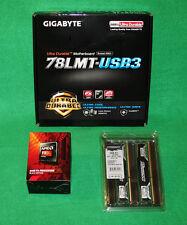 AMD FX 8320e 4GHz & GigaByte 78LMT-USB3 mATX Socket AM3+ MB & 16GB Crucial Combo