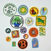 Large Lot of Girl Scout Patches Waterford Overnighter Cookie Oakland