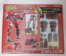 HAPPY WELL ANICAROBOT 3 IN 1 TRANSFORMERS : TOYOTA CELICA 1 : 24 RED