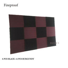 12pcs Musical Acoustic Soundproof Studio Foam in Wedge shape 12x 12x 1 inches