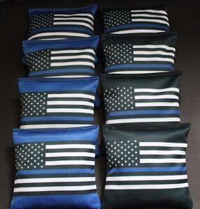 BLUE LIVES MATTER Police US Blue Line FLAG 8 ACA regulation Cornhole bags B339