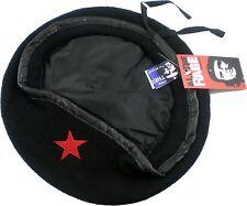 Che Guevara Red Star Military Mens Beret Cap [Black - 7 3/8]