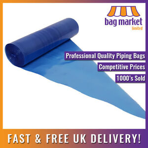 """50 x Strong 21"""" Blue Disposable Piping Bags!   Icing/Mash/Savoy/Cupcake/Filling"""