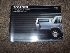 1986 Volvo 740 GLE Turbo Owner Owner's Operator User Guide Manual 2.3L