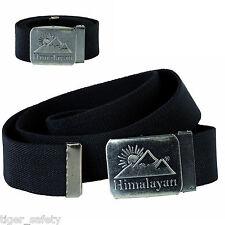 Himalayan H860BK Revolve Black Canvas Webbing Adjustable Belt Graphite Buckle