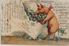 2292 AK Cochon de nouvel an 4.1.1922 PC Pork Flower Letter