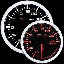 52mm Depo Racing Turbo Boost  Gauge 30 PSI White Amber red Smoked  WA5201B
