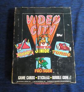 1983 Topps Video City Trading Card Box Nintendo Sega Donkey Kong Turbo Frogger