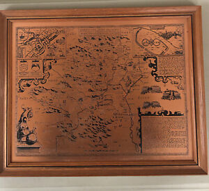Copper Map Hertfordshire County