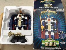 POWER Rangers Zeo Aurico il conquistatore Zord del Megazord in scatola con chiave in metallo